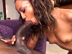 Sexy black babe fucked by 24 inch African cock and creampied